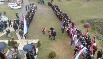 БН, Срна, 13.3.2018, Равноговци положили цвијеће на споменик палим борцима