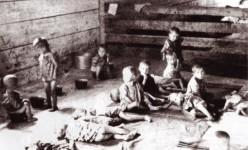 Стара Градишка, логор из система хрватских логора за српску децу најмлађег узраста, јул 1942. Фото: Архива