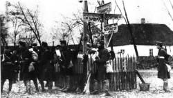 42. пешадијска (вражја) дивизија на раскрсници Шабац – Митровица – Богтић, 2. децембар 1914. Фото: Wikimedia Commons