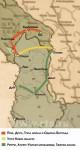 Карта повлачења српске војске 1915. Скица: РТС