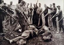 Илустрација: Жртве окружене хрватским и муслиманским усташама недалеко од Саве, 1945. Фото захваљујући: Ројтерс, Јерусалим пост