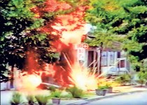 Ниш: Експлозија касетне бомбе, мај 1999. Фото. Политика / Живорад Костић