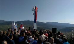 Вишеград: Откривен крст, спомен обележје подигнуто у знак сећања на Русе погинуле у редовима Војске РС Фото: Твитер @VladoMaric