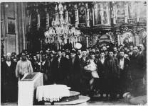 Глина: Покатоличавање Срба пре масакра, 21. јул 1941. Фото: Архива