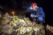 Димитрије Мирко Ћелић у пећини Мушевте Фото: Вечерње новости