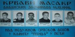 Дечаци убијени у кафићу Панда у Пећи Фото: Удржење Срба несталих КиМ