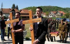 Сахрана убијених бораца ЈВуО у крипти нове цркве у Чачку Фото: Вечерње новости, В.И.