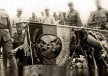"""Застава Другог пешадијског пука """"Књаз Михајло"""" Моравске дивизије, Гвоздени пук Фото: Архива, Шајкача"""