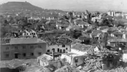 Панорама Лесковца после бомбардовања Фото: Народни музеј Лесковца, Политика