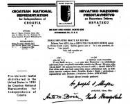 Хрватско усташко представиштво за НДХ у САД 1935. године. The Case of Archbishop Stepinac, стр. 94 Фото: screenshot