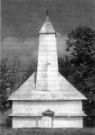 Црква Успења Пресвете Богородице (1709) у Доњој Раштеници под заштитом УНЕСКО, уништена у новембру 1991. године Фото: Јадовно 1941.