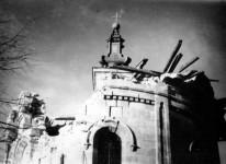 Горњи Милановац: Остаци гранатиране Цркве Свете Тројице, 15.октобра 1941. године, (трећи батаљон 849. немачког пешадијског пука) Фото: Вести, З. Марјановић