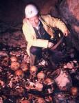 Будо Симоновић, аутор фељтона на дну јаме Равни Долац 8. јуна 1991. године Фото: Б. Симоновић, Вести